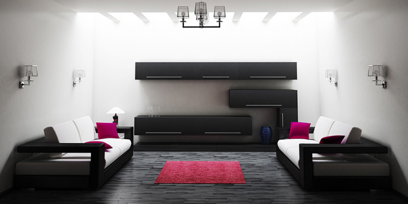 Interior of living room 3d